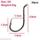 100pcs Octopus Circle Fishing Hook 8299 Sharp High Carbon Steel Black Fishook