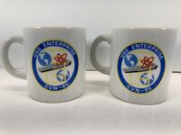 USS Enterprise CVN-65 Aircraft Carrier Coffee Mug Lot Of 2