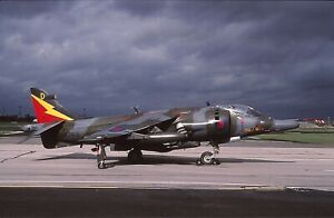Original colour slide Harrier GR.3 spcl. XZ969/D of 4 Sqdn. Royal Air Force