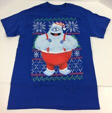 Christmas T Shirt Rudolph Red Nosed Reindeer Abominable Snowman Nwot Sz M
