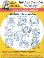 Proud to be an American 4022 Aunt Martha's Hot Iron Embroidery Transfer Pattern