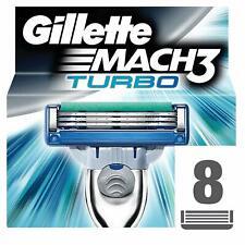 Gillette Mach3 Turbo Razor Blades, 8 Refills - SAME DAY DISPATCH