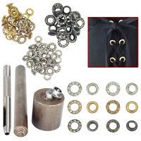 50pcs 6mm Strass Occhielli Diamante Tenuta Con Strumento a Mano per Pelle Crafts