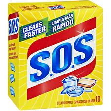 S.O.S Steel Wool Soap Pads 10 ea