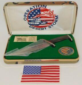 Operation Desert Storm Old Glory Rambo III Commemorative Knife in Case