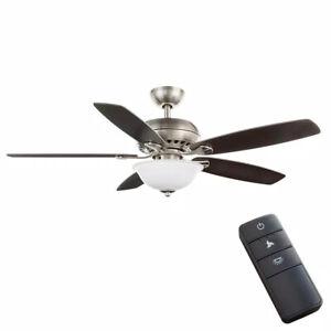 Hampton Bay Southwind II 52 in. LED Indoor Brushed Nickel Ceiling Fan w/ Remote