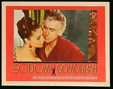 """Pier Angeli SODOM AND GOMORRAH ORIGINAL VINTAGE 1963  MOVIE LOBBY CARD 11"""" x 14"""