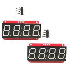 "2x 4 Digit 7-Segment 0.56"" LED Display Module Clock HT16K33 I2C for Arduino"