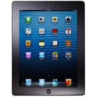Apple iPad 4th Gen. 32GB, Wi-Fi, 9.7in - Black - Works Great - Bundle - Tested