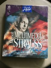 Rare New 1994 Microsoft Multimedia Strauss CD-Rom Promotional Sample Promo