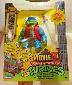 GIANT Teenage Mutant Ninja Turtle Movie III Samurai LEO Figure from Japan