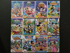 New listing Disney Mickey Mouse Clubhouse 12 Dvd Lot Choo Santa Treat Hunt World Farm Minnie
