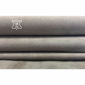 GRAY suede Genuine lambskin leather Sheep sheets for sewing  SATELLITE 2oz, 448
