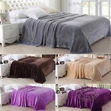 150x200cm Cool Luxury Fleece Blanket Faux Fur Sofa Bed Mink Soft Warm Queen