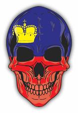 "Skull Flag Liechtenstein Car Bumper Sticker 4"" x 5"""