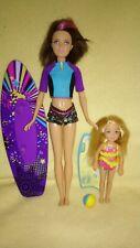 Barbie Skipper & chelsea muñecas hermanas set dreamhouse surfing Beach 166 Doll