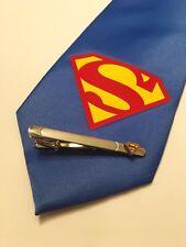 Superman Necktie And Superman Tie Clip Combo
