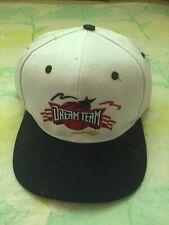 Vintage Dream Team USA Basketball Men's White Snapback Hat Logo 7