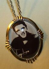 Handsome Black and White Picture Elvis Presley The King Pendant Necklace Brooch
