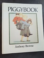 Piggybook-Anthony-Browne-1st-Ed-Hardcover-1986-9th-Book-Moral-Story-Great-Illus