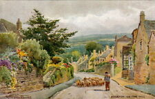 BOURTON-ON-THE-HILL (Glos): Road into the village-SYLVESTER STANNARD-SALMON