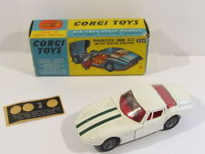 CORGI 324 MARCOS 1800 GT w VOLVO ENGINE NEAR MINT + ORIGIN. BOX + PART DECAL