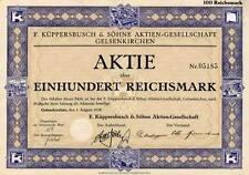 Küppersbusch & Söhne AG Gelsenkirchen histor. Aktie 1928 Küchen Herde Öfen Köln