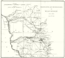 WISCONSIN. USCGS Triangulation and Reconnaissance. Madison 1881 old map