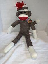 Sock Monkey 20 Inches Tall Stuffed Animal Lovey Plush SSM