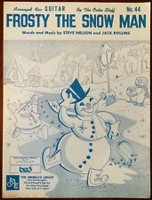 Frosty The Snow Man arranged for Guitar – Pub. 1950