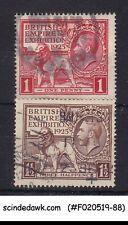 Great Britain - 1924-25 British Empire Exhibition / Kgv Sg#430-431 - 2V - Used