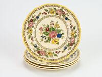 """Royal Doulton The Cavendish Bread Plates 4 pc Set, Vintage Dessert Floral 6 1/2"""""""