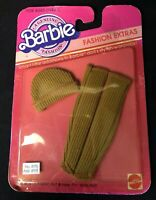 Vintage Barbie Fashion Extra 1983 HAT & LEGGINGS NEW Still in Packaging Rare~YGF
