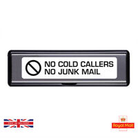 No Junk Mail / Cold Callers Letterbox - 200mm x 45mm - Self Adhesive Stickers
