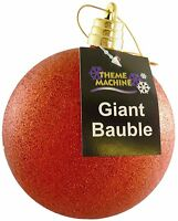 15cm Giant Red Glitter Bauble - Christmas Decorations - Tree Trimmings (DP243)