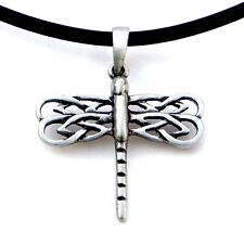 Asatru Celtic Dragonfly Peace prosperity Pagan Magic Wicca Pewter Pendant