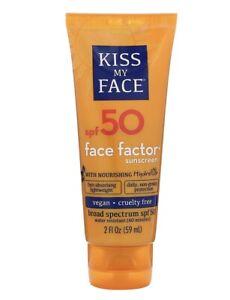 Kiss My Face- Face Factor Sunscreen  SPF 50 Exp 5/21