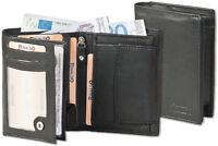 Rinaldo® Herren Geldbörse im Hochformat in Schwarz aus feinem Nappa Leder