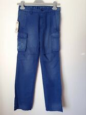 BNWT 100% Auth By Replay ,Boys Blue, Skate Style Trousers With Logo. 10-11,148cm