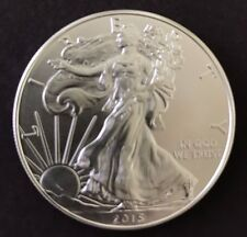 2015 1 Oz Silver Dollar US American Eagle Coin, Uncirculated, GovMint.com COA