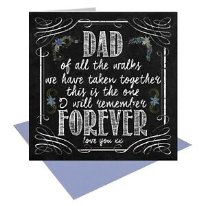 Chalk Style Vintage Retro Wedding Card Father of the Bride Walk Down the Aisle