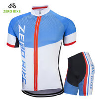 Mens Summer Cycling Wear Bike Clothing Sportswear Jerseys and Padded Shorts Set