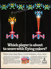 GALAXIAN__Original 1983 print AD / vintage game promo advert__ATARI 2600 / 5200