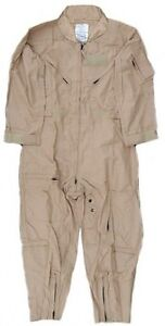 Caper Alls Sand Colored Jump Suit Size 44 Long Fire Resistant Military Issue US Air Force Flyers Coveralls