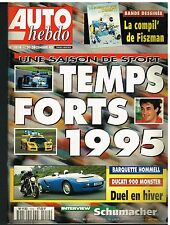 A21- Auto Hebdo N°1014 Temps forts 1995,Interview Schumacher