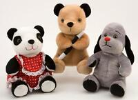"""8"""" (20CM)  SOOTY, SWEEP AND SOO SOFT PLUSH TOYS - GREAT QUALITY - BNWT"""
