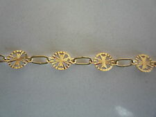 new 18ct 18k bracelet yellow gold knight of malta maltese cross diamond cut