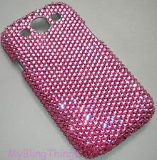 ROSE PINK Crystal Bling Back Case for Galaxy S3 Mini made w/ Swarovski Elements