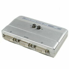 DVI 2 Port 2:1 Manual Switcher Selector Switch Box single-mode TV LCD Monitor