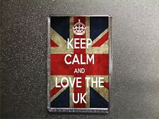 KEEP CALM AND LOVE THE UK UNION JACK FRIDGE MAGNET BIRTHDAY GIFT